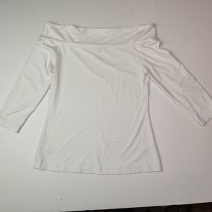 Ann Taylor Top 3/4 Sleeve Off the Shoulder Size Sm